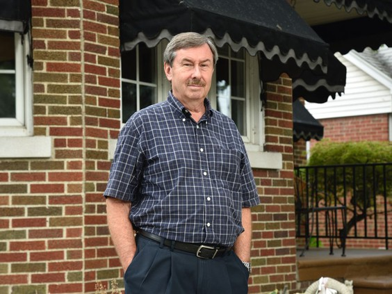 Dave Holland, a resident on Eastlawn Avenue, said he was thrilled by the announcement of $4 million in storm and sewer infrastructure upgrades for the road announced by the City of Windsor on Thursday, Aug. 26, 2021. Holland said he and wife Maureen experienced flooding in 2017 and since then have made a number of upgrades to protect against future flooding in their home. PHOTO BY KATHLEEN SAYLORS /Windsor Star